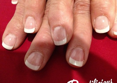 Gel polish on gel nails